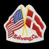 USA and Danish Flags Iron On Patch Crossed Flags - Heritage Pride