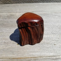 Wood Ring Box Redwood Rustic Handmade California Redwood Jewelry Box Storage Box Token Ashes #262