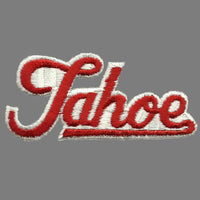 Tahoe Patch - Script Red and White - California Nevada