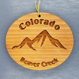 Beaver Creek Colorado Ornament Handmade Wood Ornament CO Souvenir Mountains Ski Resort