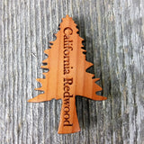 Redwood Tree Magnet Handcrafted Wood Souvenir California Redwood Handmade Made in USA