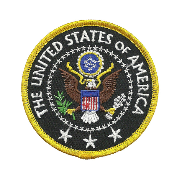 "Presidential Seal Patch USA Federal Government Badge Circle 3"" Iron On United States of America"
