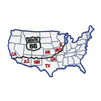 Route 66 USA Map Iron on Patch