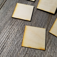 Wood Cutout Squares - 2 Inch - Unfinished Wood - Lot of 12 - Wood Blank Craft Projects - DIY