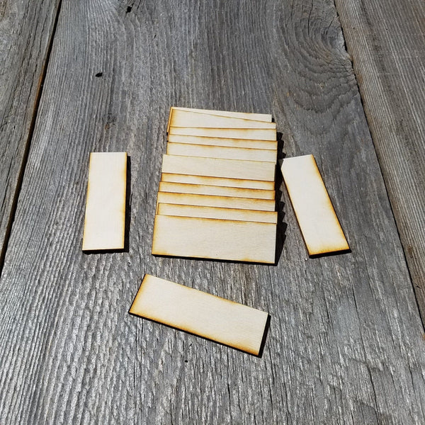 Wood Cutout Rectangles - 3 Inch - Unfinished Wood - Lot of 48 - Wood Blank Craft Projects