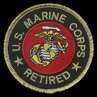 US Marines Retired Patch Iron On Vtg US Military Country Pride Veteran Patch Retired Military Patch Circle3""