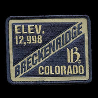 Breckenridge Colorado Patch - Ski Patch- CO Ski Resort Patch - Elevation 12,998 Colorado Souvenir - Travel Patch - Iron On - Applique