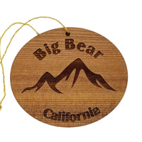 Big Bear Ornament California Mountains Handmade Wood Souvenir