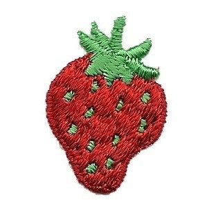 Strawberry  Iron On Patch – 1.25″ Craft Patch - Strawberry Embellishment Strawberry Applique