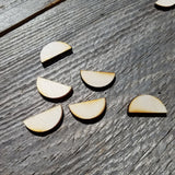 Wood Half Circles - 1 Inch Wood Cutout - Lot of 24 - Wood Blank - Craft Projects