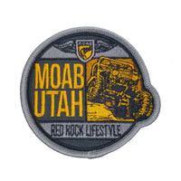 Utah Patch – Moab UT – Jeep Red Rock Lifestyle – Travel Patch Iron On – UT Souvenir Patch – Off Roading Applique – Circle 3″ Travel Gift