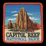 "Utah Patch -Capitol Reef National Park - Travel Patch Iron On - UT Souvenir Patch - Embellishment Applique - Square 3"" Travel Gift"