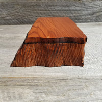Wood Jewelry Box Redwood Rustic Handmade California Storage Live Edge #271 5th Anniversary Gift Stash Box Birthday Gift