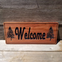 Welcome Sign - Carved Sign - Handmade - California Redwood - Housewarming Gift - Wedding Gift