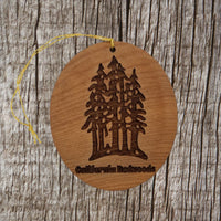 California Redwoods Ornament Forest Trees Christmas Handmade Wood Ornament Made in USA Souvenir Laser Cut Travel Gift