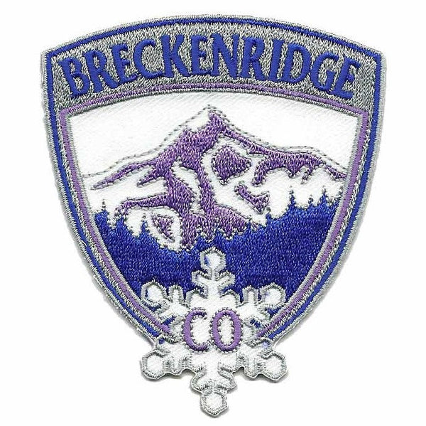Breckenridge Colorado Patch - Ski Patch- CO Resort Patch - Colorado Souvenir - Travel Patch - Iron On - Embellishment - Applique