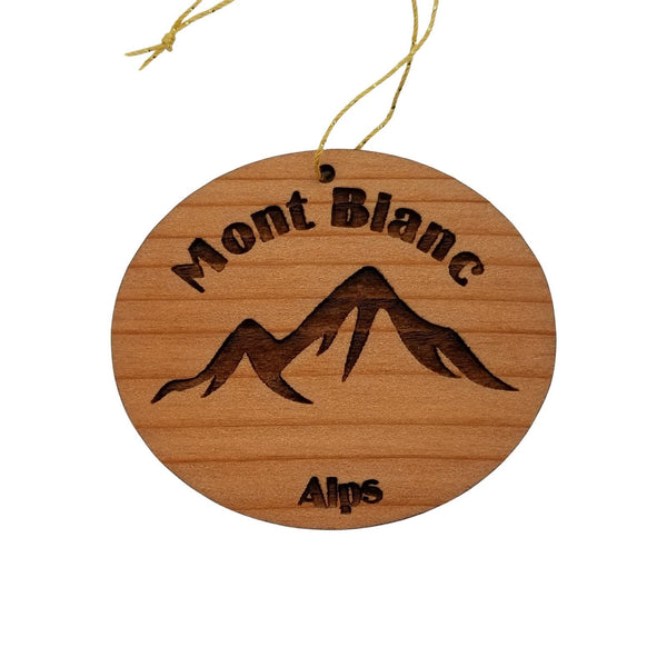 Mont Blanc Mountains Ornament Handmade Wood Ornament Swiss Alps Souvenir