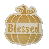 Thanksgiving Place Card Set of 4 - Thanksgiving Place Setting - Thanksgiving Table Decor - Blessed Pumpkin Place Holder
