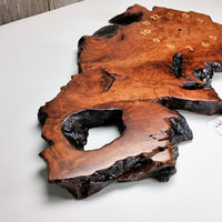 Handmade California Redwood Burl Wood Wall Clock Rustic Home Decor #9