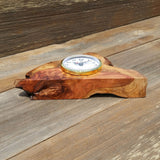 Wood Mantel Clock Handmade Redwood Desk Clock #D2018