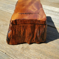 Wood Jewelry Box Curly Redwood Tree Engraved #J