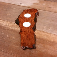 Redwood Candle Holder 2 Tealight Wood Rustic Home Decor #4
