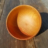 Cedar Bowl Hand Turned 5.75 Inch Handmade In The USA Northern California Rustic Home Decor Wood Art #A26