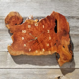 Redwood Burl Clock Two Tone Wall Clock Rustic Slab #109