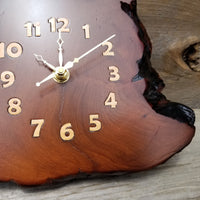Redwood Clock Handmade Rustic Wall Clock #160 Wood Anniversary