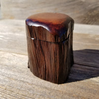 Wood Trinket Box Handmade Box California Redwood Limb Box #241