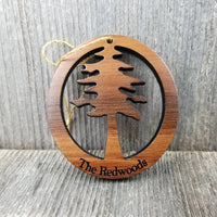 Redwood Tree The Redwoods Wood Christmas Ornament California Redwoods Handmade Made in USA