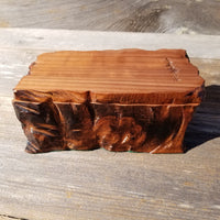 Redwood Jewelry Box Curly Wood Handmade #236 Memento Box