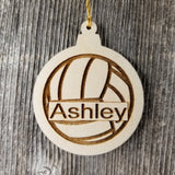 VolleyBall Wood Ornament - Volleyball Player Gift -Engraved Ornament - Personalized