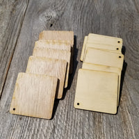 Wood Cutout Squares - 2.25 Inch - Unfinished Wood - Lot of 20 - Wood Blank Craft Projects - DIY - Make Your Own Ornaments