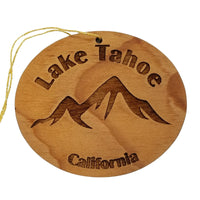 Lake Tahoe Ornament California Mountains Handmade Wood Souvenir