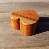 Redwood Heart Wood Box Ring Box Engagement Ring Box #314 California Redwood