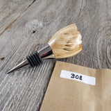 Wine Stopper Rustic Wood Gift for Her Maple Live Edge Top Handmade #308
