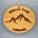 Dipsea Trail Ornament Handmade Wood Ornament CA Souvenir Mountains Hiking Mill Valley CA Muir Woods San Francisco