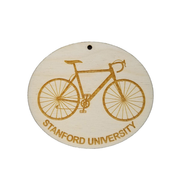 Stanford Wood Ornament - Stanford University Mens Bike or Bicycle - Handmade Wood Ornament Made in USA Christmas Decor