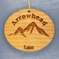 Arrowhead Lake Ornament Handmade Wood Ornament Pennsylvania Souvenir PA Pocono Mountains