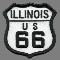 Illinois Patch - Route 66 Patch – Iron On US Road Sign – Travel Patch 2.5""