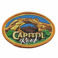 "Utah Patch - Capitol Reef National Park - Travel Patch Iron On - UT Souvenir Patch - Embellishment Applique - Oval 3.25"" Travel Gift"