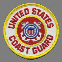 "Coast Guard Patch – United States Souvenir – US Coast Guard Shield – Travel Gift 3"" Circle"