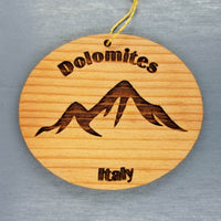 Dolomites Italy Ornament Handmade Wood Ornament Italy Souvenir Mountain Ski Resort Skiing Skier Dolomite Superski