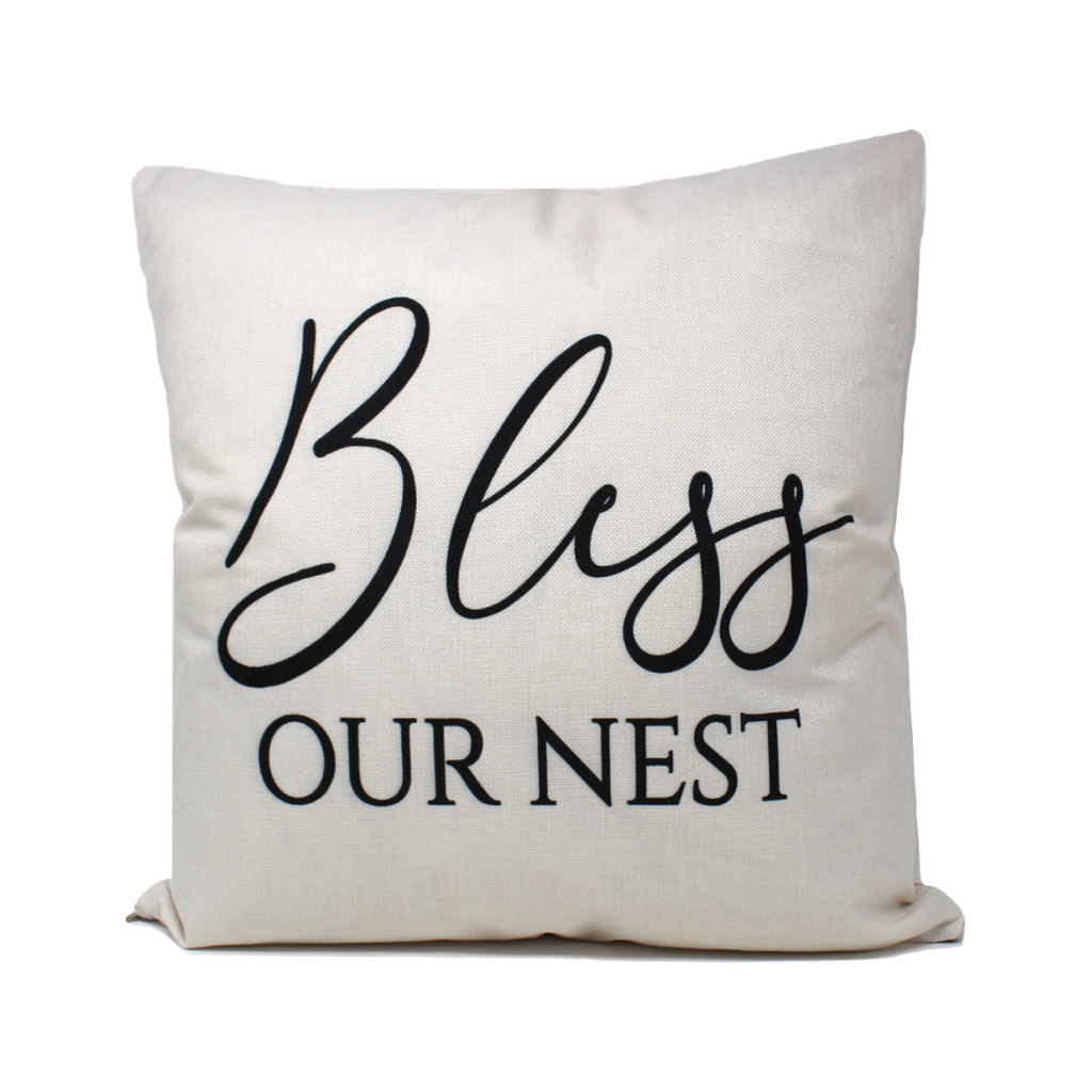 Bless Our Nest Pillow Cover