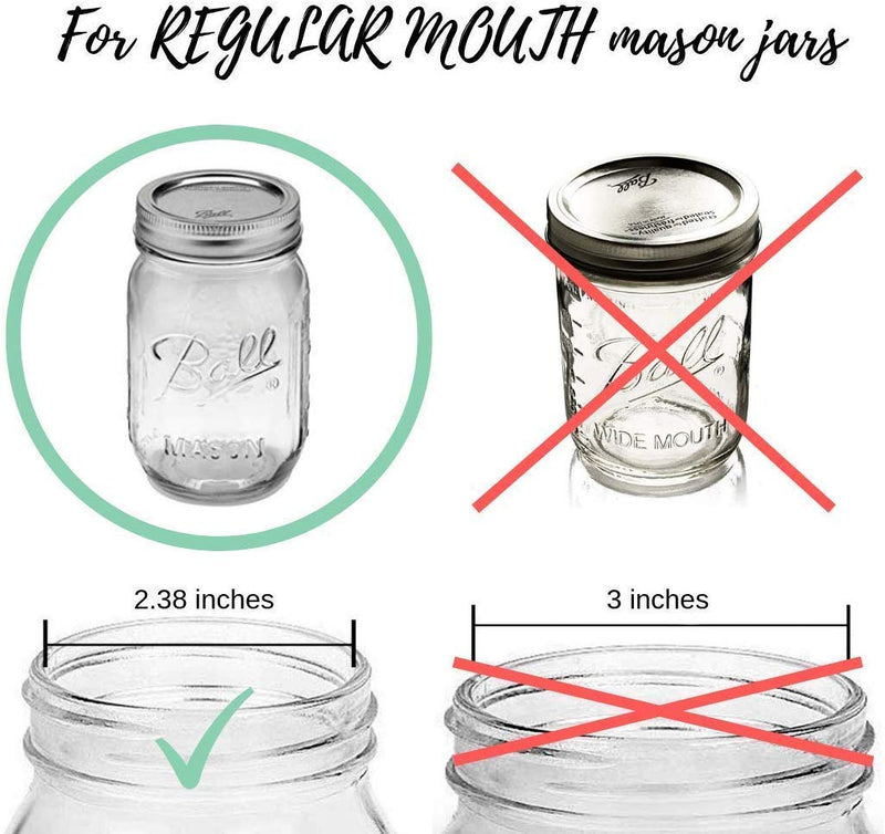Mason Jar Bathroom Accessory Lid Set | Includes Soap Dispenser, Toothbrush Holder, and Apothecary Lids | Perfect for Rustic or Modern Farmhouse Bathrooms