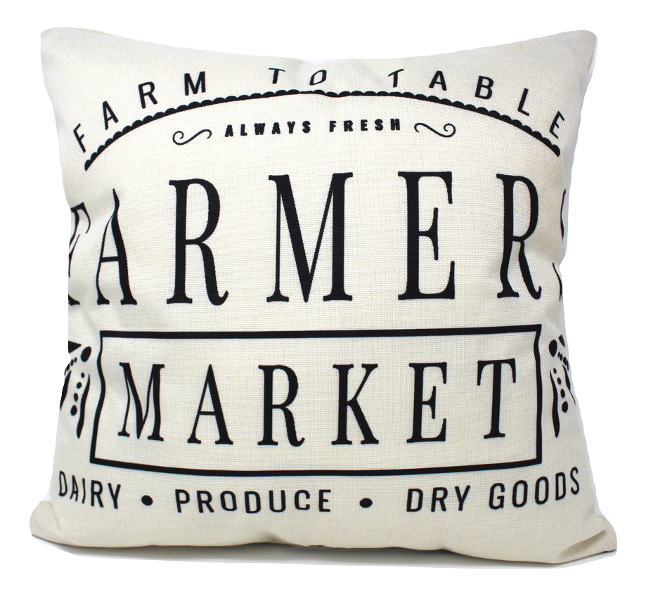 Farmer's Market Throw Pillow Cover