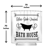 Bath House Shower Curtain