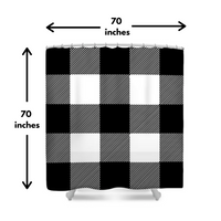 Black/White Buffalo Plaid Shower Curtain