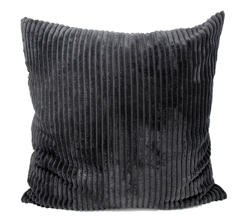 Midnight Black Corduroy Pillow Cover